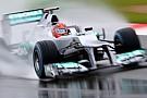 Schumacher spera in una gara bagnata
