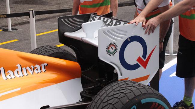 La Force India con i soffiaggi tipo Williams!