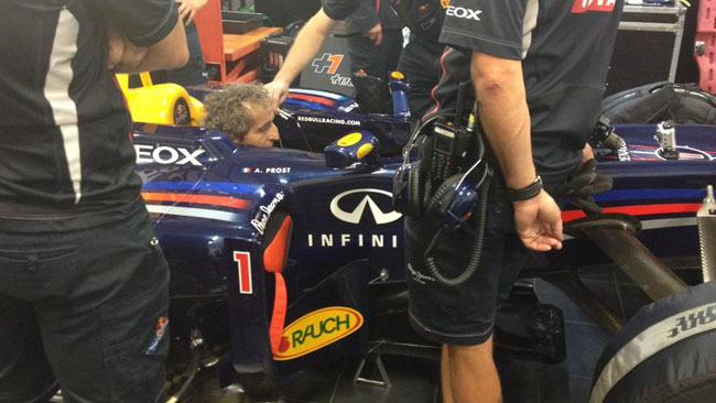 Prost si esbisce al Ricard sulla Red Bull RB6