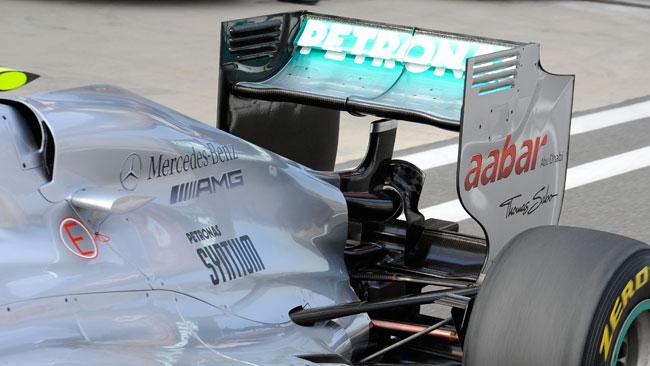 Anche la Mercedes ha provato il Super DRS