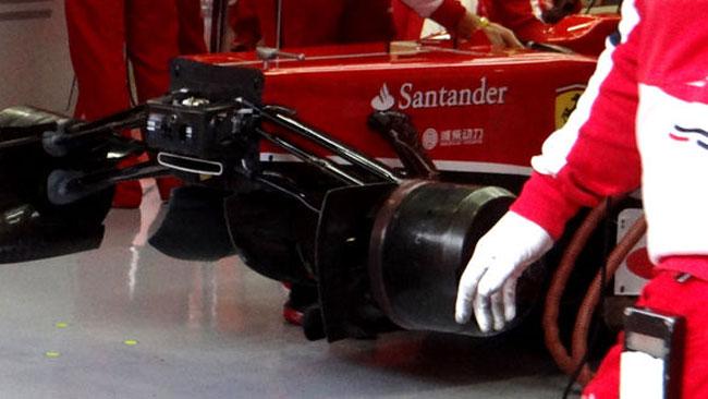 Ecco il buco della Ferrari senza il musetto della F138
