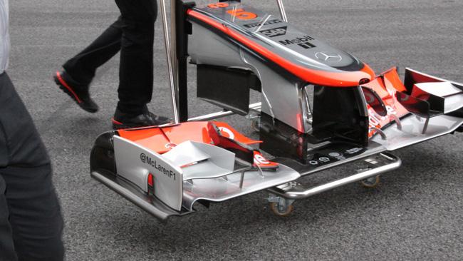 McLaren: risolto il mistero dell'ala anteriore