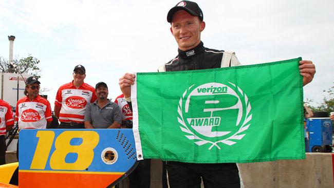 Mike Conway centra la pole per gara 2 a Detroit