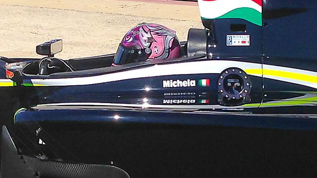 Michela Cerruti ha provato l'Auto GP a Vallelunga
