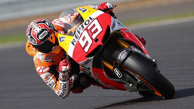 Marquez in pole davanti a Lorenzo a Silverstone