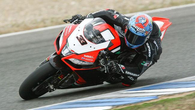 Esordio positivo per Melandri sull'Aprilia a Jerez