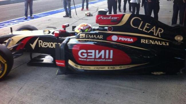 Ecco Maldonado al debutto sulla Lotus E22!