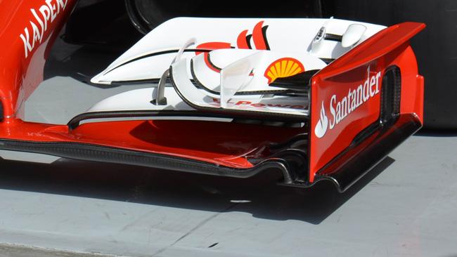 Ferrari: ecco la nuova ala anteriore più carica