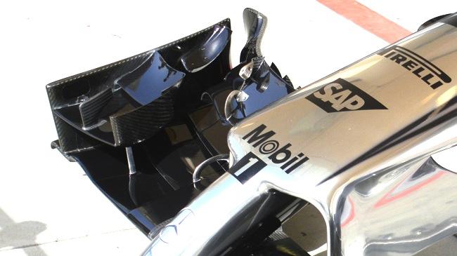 La McLaren con upper flap aggiuntivo svergolato