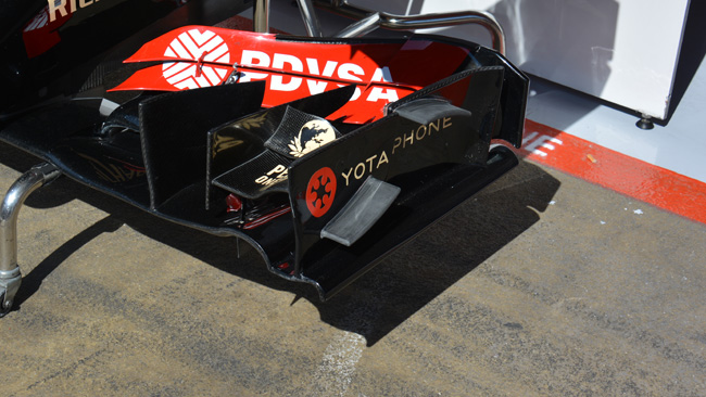 Lotus: nuova ala anteriore con paratie incurvate