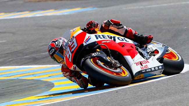 Marquez piazza la cinquina in rimonta a Le Mans