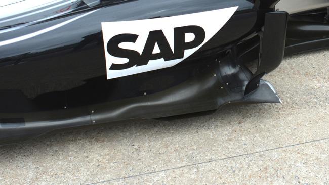 Sfiato d'aria calda modificato sulla McLaren