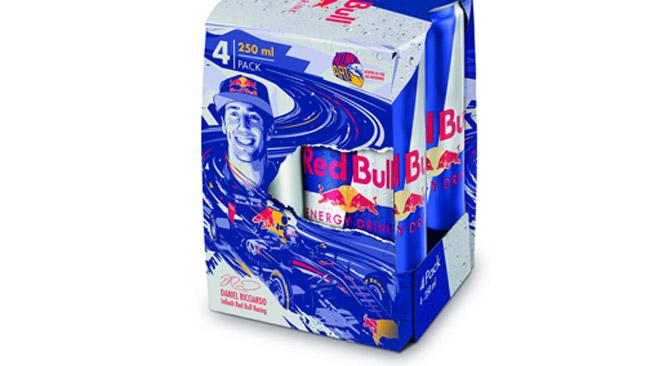 La Red Bull dedica la nuova confezione a Ricciardo