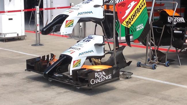 Force India: è nuovo il muso con diversi piloni
