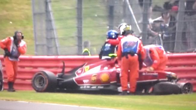 Problemi alla caviglia per Kimi Raikkonen