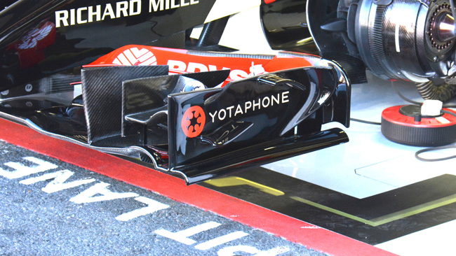Lotus: modificata la bandella laterale della E22