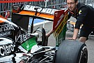 Force India con il monkey seat ad arco