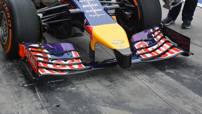La Red Bull usa ali ancora più scariche del 2013