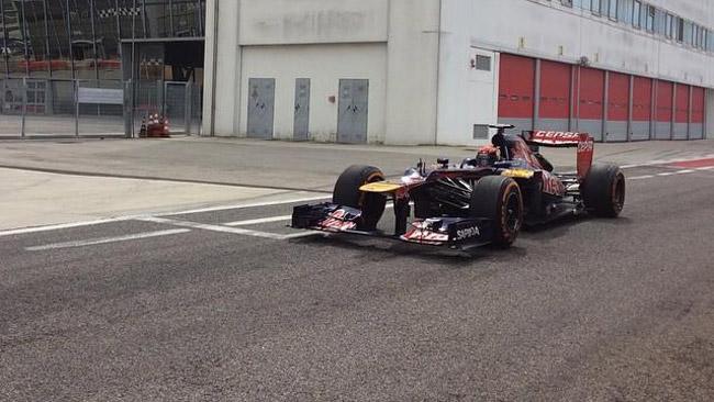 Ecco Max Verstappen sulla Toro Rosso ad Adria