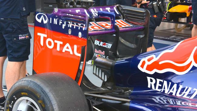 Red Bull: ala posteriore con lo slot più largo
