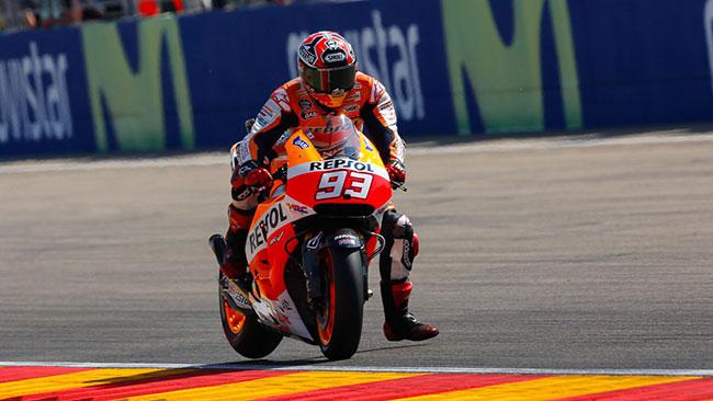 Aragon, Q2: Marquez incontenibile, 20esima pole!