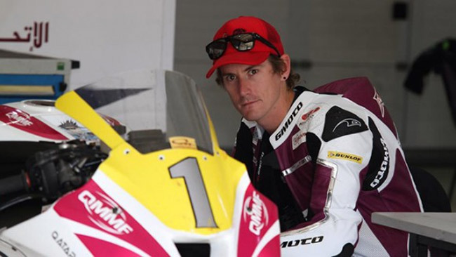 Alex Cudlin in Qatar con il Team Pedercini