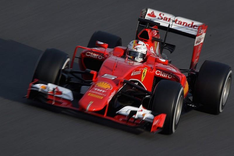 Filming day Ferrari: la SF15-T ha un colore più chiaro