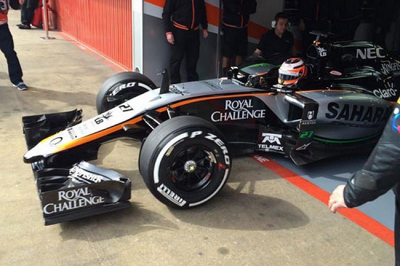 Finalmente in pista la Force India VJM08