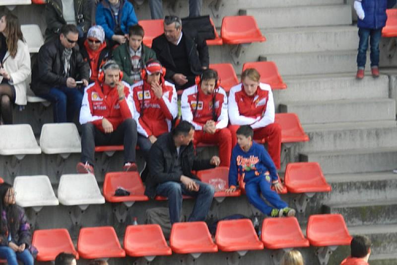 Barcellona: che ci fa Arrivabene in tribuna centrale?