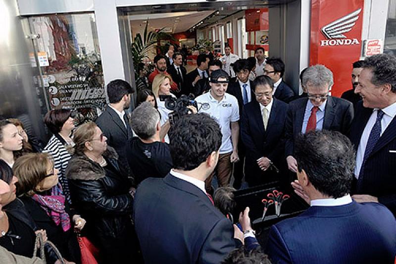 Miller ha inaugurato la nuova Honda Palace Roma