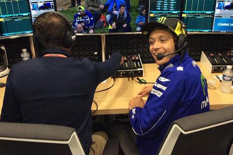 Valentino Rossi commentatore televisivo per un giorno