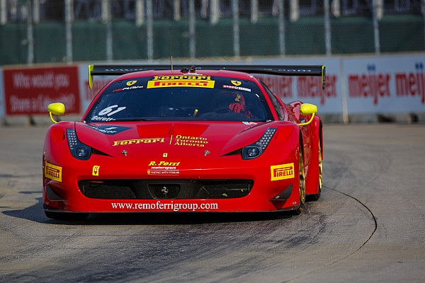 PWC Ferrari on the World Challenge Podium in Detroit