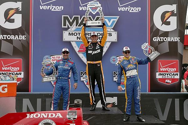Long time coming: Rahal, Andretti names share podium again