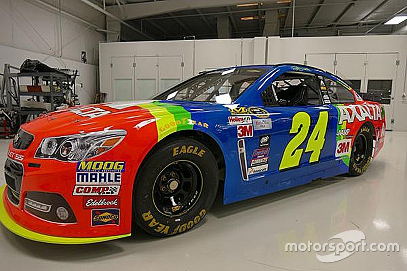 El arcoiris regresa al bólido de Jeff Gordon