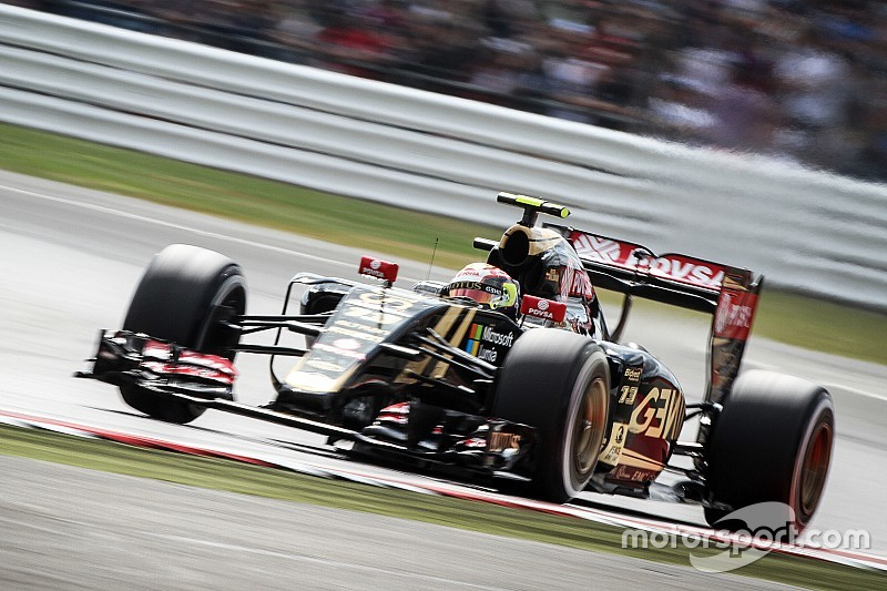 Lotus' hopes for the British GP evaporates before the completion of the first lap