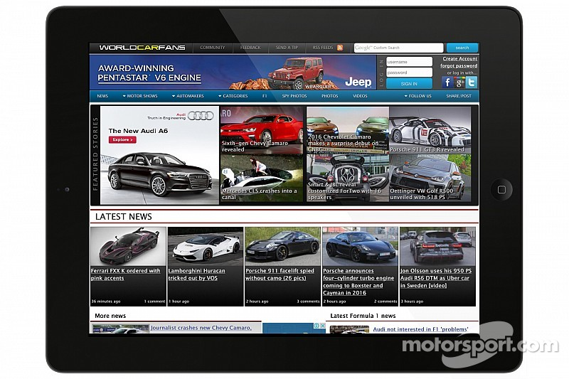 Motorsport LLC acquisisce WorldCarFans.com