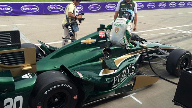 Luca Filippi al debutto su un ovale in Iowa
