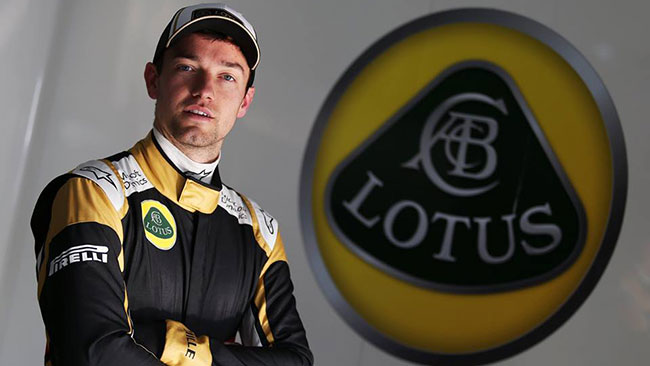Jolyon Palmer sulla Lotus nelle FP1 dei GP europei
