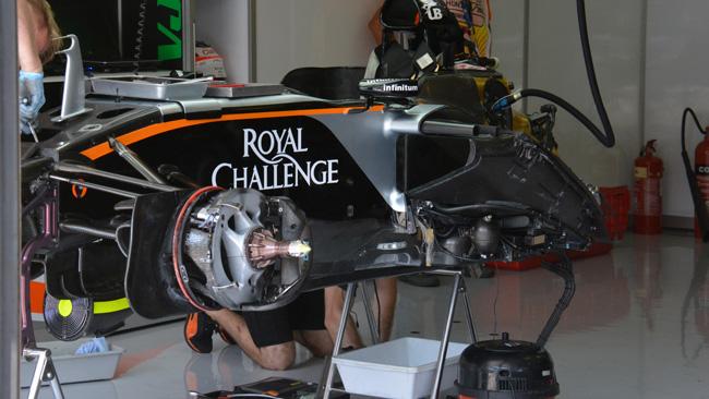 Force India: controlli pure sul retrotreno di Hulkenberg