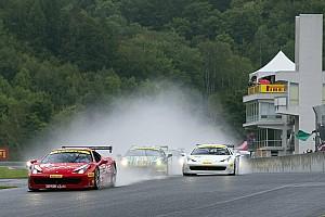 Ferrari Race report Ferrari Challenge North America – Victories beneath the rain for Anassis, Zoi and Saada