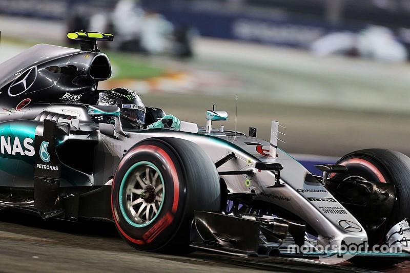 Rosberg avec son moteur de Monza en Essais Libres