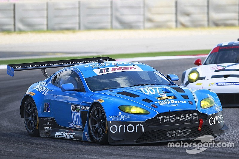 Leading by only one point, TRG-Aston Martin Racing is heading into Petit Le Mans