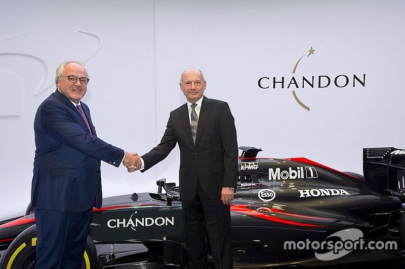 McLaren: ufficializzato il nuovo sponsor Chandon