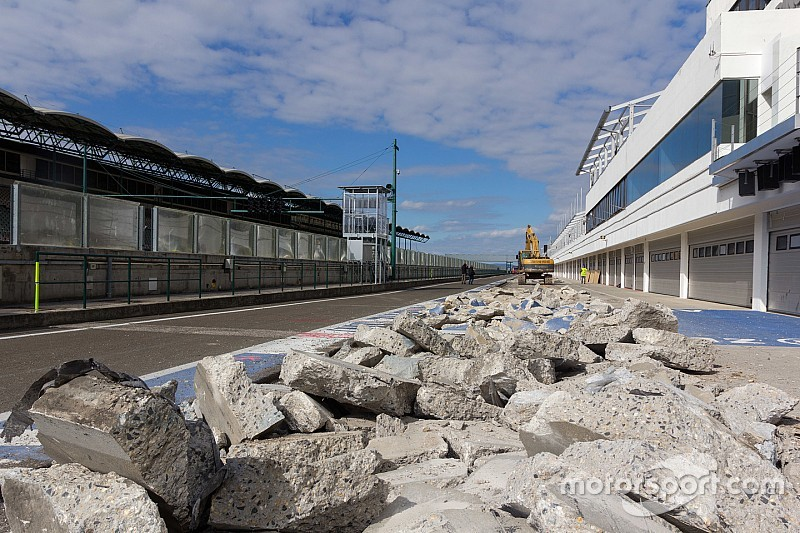 Beginn der Umbauarbeiten am Hungaroring