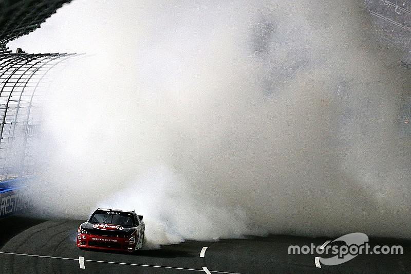 Austin Dillon's Xfinity win at Charlotte covered in fireworks ... literally