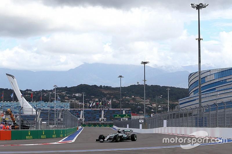 GP von Russland: Nico Rosberg im abgebrochenen 3. Training voran