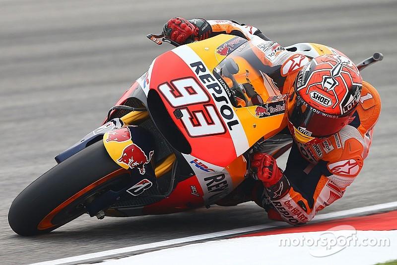 Márquez lidera la 1° práctica y Lorenzo supera a Rossi