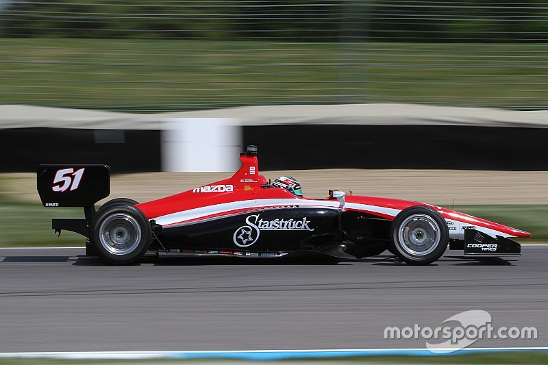 Blackstock staying at Andretti Autosport, leads opening Lights test