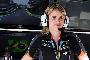 Formule 1 Actualités Bernadette Collins - Ingénieure chez Force India