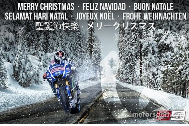 Jorge Lorenzo desea Feliz Navidad a sus fans